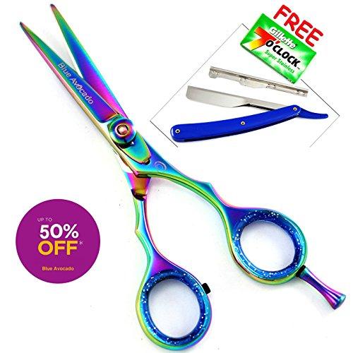 Blue Avocado - tijeras de peluquería profesional para cortar el pelo, (11,43 cm) tijeras de pelo, Peluquería caso tijeras +