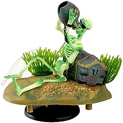 BHPSU - Figura Decorativa para Acuario de Mascota, diseño de Pirata, decoración de acuarios y paisajes