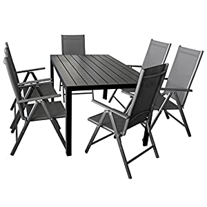 Gartenmöbel Set Aluminium 7 Teilig | Deine-Wohnideen.de