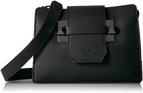 Guess Damen Hwvm6861140 Umhängetasche, Schwarz (Nero), 9x17x23 centimeters (Zip-handtasche Top)