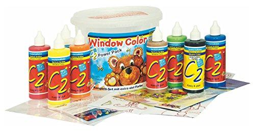 fenstermalfarben Kreul Hobby Line 40151 - Glas Design Fenstermalfarben Set, Window Color C2 Power Pack