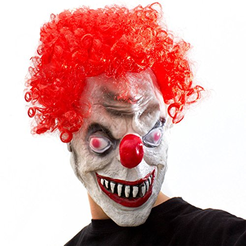 Horror Clown Maske Clownsmaske 3/4 Latexmaske Halloween ES Clownmaske