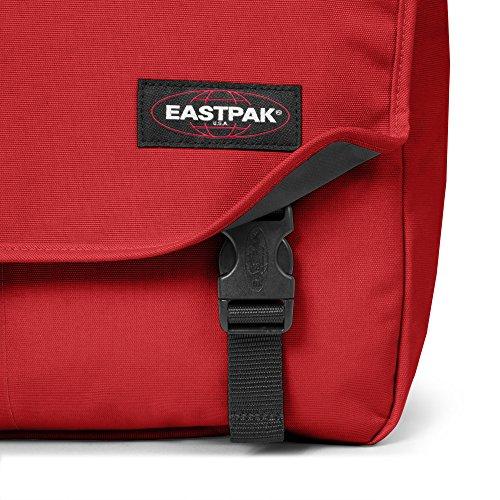 Eastpak Delegate Borsa a Tracolla, 20 Litri, Nero (Black) Rosso (Apple Pick Red)