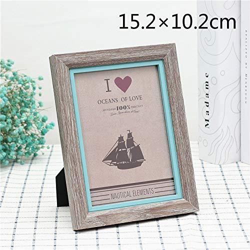 Speedmar Baby Geburtstag Memo Fotoalbum Ca.15.2 × 10.2cm Ich Liebe Dich Foto Frame Kontrast Farbe Bilderrahmen für Heimtextilien (zufällige Farbe)