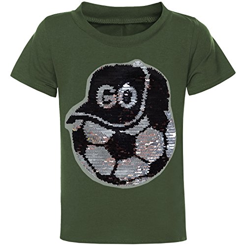BEZLIT Jungen Wende Pallietten T-Shirt Kurzarm Boy Polo-Shirt Sommer 21333, Farbe:Grün, Größe:104 (Loose Fit-kids-shirt)