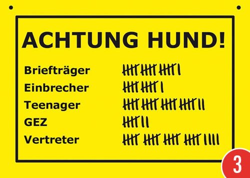 3er-Pack: Postkarte Kunststoff +++ VERBOTENE SCHILDER von modern times +++ ACHTUNG HUND +++ ARTCONCEPT VERBOTENE SCHILDER