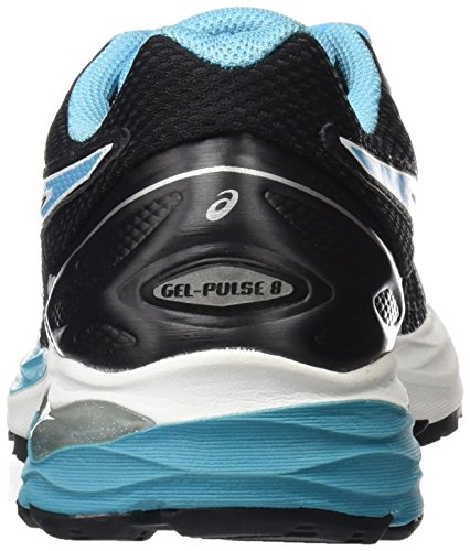 Asics Damen Gel-Pulse 8 Laufschuhe Multicolore (Black/Aquarium/White)