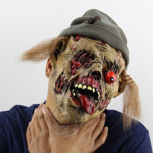 Qi Hong Halloween Zombie Keeper Grab Horror Halloween Bar Spukhaus Requisiten Hooded Funny Masken, Masquerade Requisiten, Weihnachten Requisiten