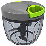#4: Home Puff Vegetable Chopper, 3 Stainless Steel Blade, Green (HP-MED-CHPR 725ml)