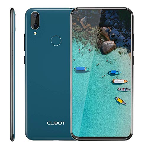 "Cubot R19 4G Smartphone ohne Vertrag Günstig Android 9.0 3GB RAM + 32GB ROM 5.71"" Waterdrop-Notch HD Display 13MP+2MP Dual Kamera Dual SIM Handy - Face/Fingerabdrucksensor (Grün)"