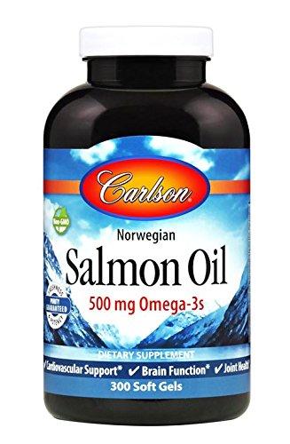 Carlson labs - magnesio di color salmone norvegese 1000 dell'olio. - 300softgels