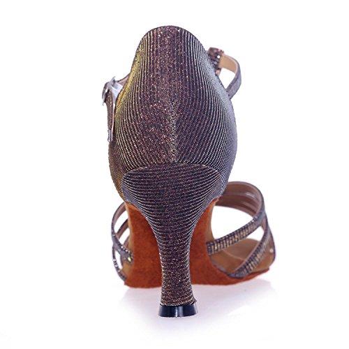 L@YC Sandali Di Danza Delle Donne Con I Pattini Di Ballo Di Cuoio artificiali Di 7.5cm / Multi-Colore Silver