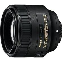 Nikon AF-S 85mm F1.8 G - Objetivo para Nikon (distancia focal fija 85mm, apertura f/1.8) color negro