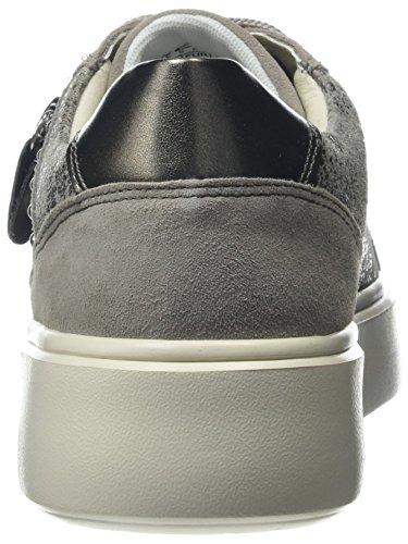 Geox D Nhenbus F, Scarpe da Ginnastica Basse Donna Grigio (Taupe/lt Grey)