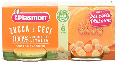 Plasmon Omogeneizzato di Verdure Zucca e Ceci 24 Vasetti da 80 gr