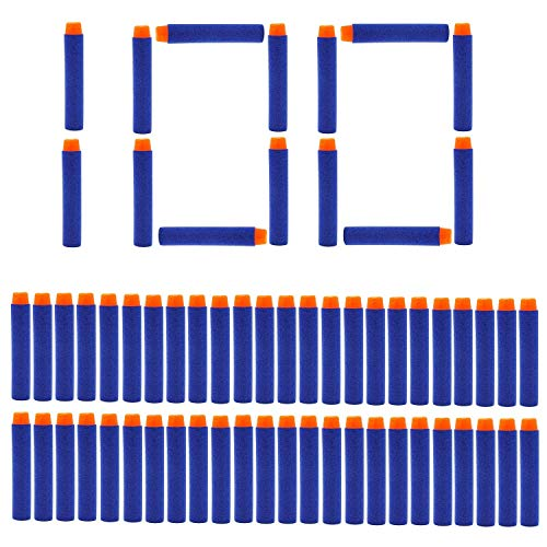 Romote 100 PC nicebuty Darts Darts Für Nerf Elite Series Foam Dart Nachfüllung von Nerf Elite Series Blasters BLUE n-gr & egrave; ve Nerve Yellow Foam Toy Gun