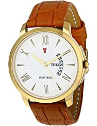 Swiss Trend Exclusive Latest Trend Day & Date Analog Watch For Men - OLST2229