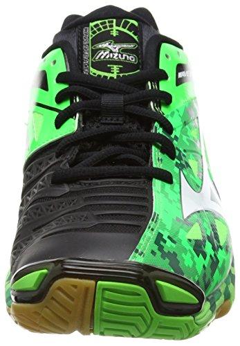 Mizuno - Wave Stealth 3, Scarpe Pallamano da uomo Verde (Green (Neon Green/White/Black))