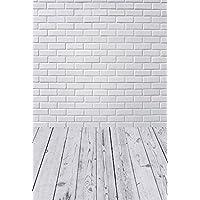 Konpon 150x 220cm algodón poliéster lavable blanco muro de ladrillos fotografía telón de fondo recién nacidos fondo de fotografía de estudios bebé accesorios boda Drop kp-355