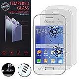 VCOMP® 2x Hochwertige gehärtete Panzerglasfolie für Samsung Galaxy Pocket 2 - TRANSPARENT