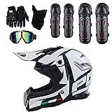 GUOGUO Helm Motocross Helm Sport Moto Sport Double Sport Abschlag Fahrrad MTB, Set Motorradhelm...