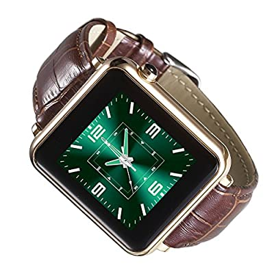 "Maya L1S BT 4.0 Business MTK2502A Smart Watch 1.54"" IPS Leather Wristwatch for iPhone 6/6S Plus IOS 7.0 Android 4.3 Above Smartphone"