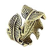 cdet Öffnung Ring Frauen Größe verstellbar Ring Retro Feder Muster Herren Geschenk jewelry accessories