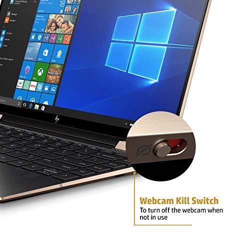 HP Spectre x360 Core i5 10th Gen 13-inch FHD Touchscreen Laptop (8GB/512 GB SSD/Windows 10/MS Office 2019/Dusk Black/1.27 kg), 13-aw0204TU Image 7