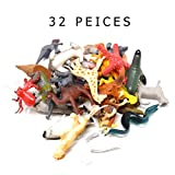 32 Animals Figure Farm Zoo Sea Dinosaur Figures Toys Set Realistic Wild Vinyl Pastic Animal Great has Learning Aid