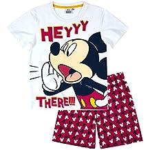 Disney Mickey Chicos Pijama mangas cortas - Blanco