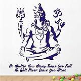 WALLSTICKS ' Hindu - God - Lord - Siva - Meditating - Shiva - Inspirational - Motivational - Quote - Wall Sticker ' - WS126 (