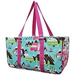 Happy Camper Print Ngil Utility Tote Shopping Bag