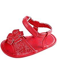 Tefamore Zapatos Sandalias Bebé de Recién Nacido Flor Suave Suela Antideslizante Zapatillas Niña Cuna