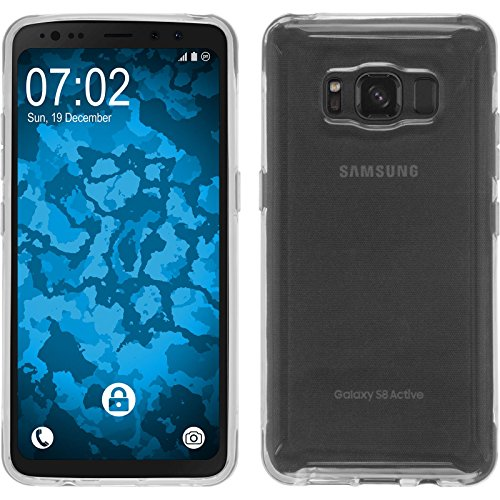 PhoneNatic Case für Samsung Galaxy S8 Active Hülle Silikon Crystal Clear, transparent Cover