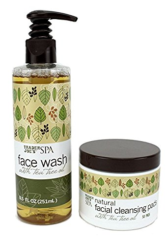 trader-joes-spa-set-face-wash-and-facial-cleansing-pads-with-tea-tree-oil