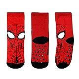 Marvel Rutschfeste Socken Jungen Spiderman 2-7 Jahre Baumwolle Blau Schwarz Rot Disney Avengers (Schwarz, EU 27/31)