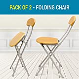 #7: TIED RIBBONS Set of 2 Folding Chair For Kids Home School Study Folding Chairs for Boys & Girls Unisex (Set of 2, Tortilla Brown)
