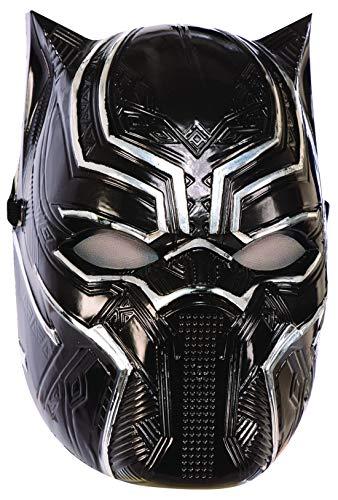 costumebakery - Kostüm Accessoires Zubehör Kinder Black Panther Maske aus Avengers Assemble, perfekt für Karneval, Fasching und Fastnacht, Schwarz