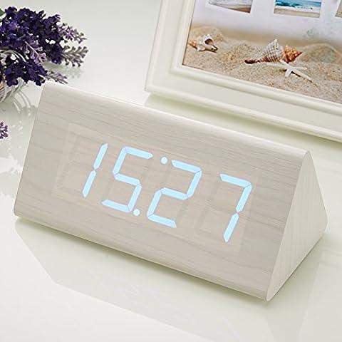 Creative silenciar el timbre del despertador cama perezoso luminiscentes y preciosa madera led moda reloj control de reloj electrónico,M