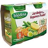 Bledina Pots Sales Jardiniere De Legumes Poulet 2X200G 8mois - ( Prix Unitaire ) - Envoi Rapide Et Soignée