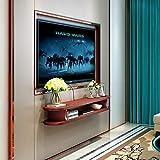 GAIXIA Cornice Decorativa per TV Supporto per TV unità di Gestione per l'immagazzinamento di armadietto del Lettore di Dvd Scaffale Galleggiante Mensola per Montaggio a Parete (Color : C(100cm))