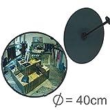 professioneller Beobachtungsspiegel Überwachungsspiegel Sicherheitsspiegel Kontrollspiegel, Konvexspiegel 40 cm, Endlich kein lästiges Schrauben mehr beim Einstellen des Spiegels