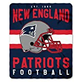 New England Patriots Offizielle NFL Decke, Fleecedecke in 127 x 152 cm