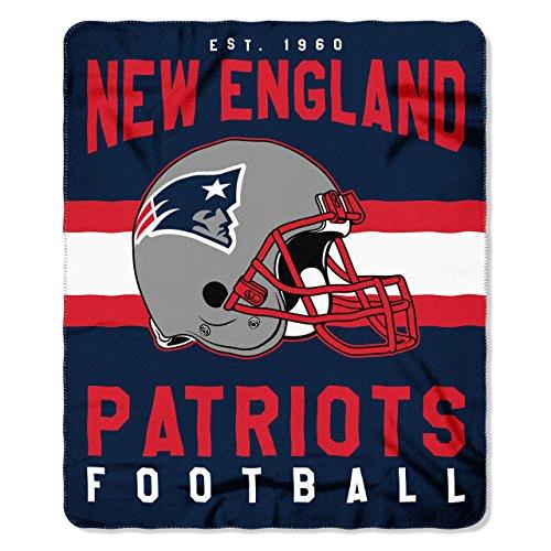 New England Patriots Offizielle NFL Decke, Fleecedecke in 127 x 152 cm