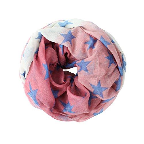 Glamexx24 Neue Kollektion Schal mit Stern Schlauchschal Damen Langschal Loop schal Loopschal Tuch HALSTUCH 01416