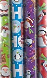 4 x 5M Rolls Of Christmas Gift Wrap Paper Wrapping Santa Xmas Characters WCNV
