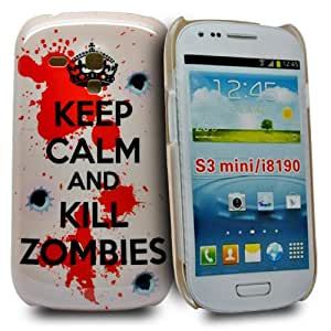Accessory Master- 'KEEP CALM AND KILL ZOMBIES ' la conception hard Housse pour samsung galaxy S3 mini i8190