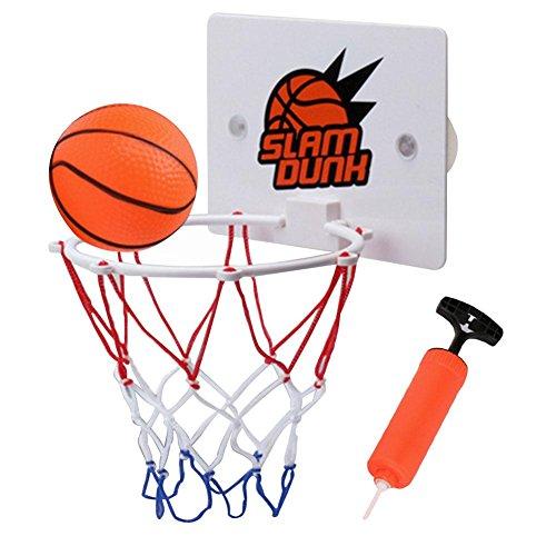 Mini Panier de Basket Mural Pour enfant, ABS Panier basket Avec Basketball Et Installer la ventouse Interieur Loisir Sport Basketball