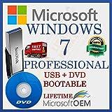 MS Windows 7 Professional | Lecteur USB + DVD | Avec facture | 32/64 bits | Démarrage automatique de l'installation | Version complète | Expédition rapide | NOUVEAU | Langue : Français |