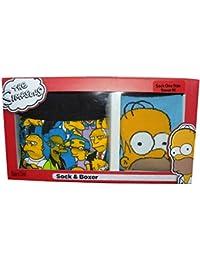 **Bon Marche** 1 Boxer & 1 Chausette Pour Homme Simpsons